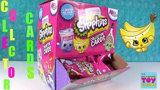 Shopkins Collector Cards NEW Season 5 & 6 Blind Bag Figure Opening | PSToyReviews