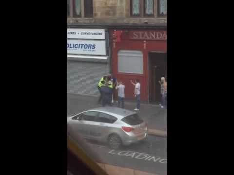 Glasgow Police taking a going over in Possil