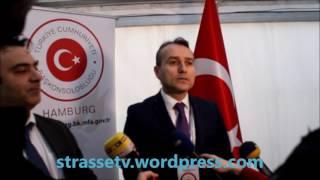 Hamburg Başkonsolosu Fatih Ak, Referandum için oyunu kullandı