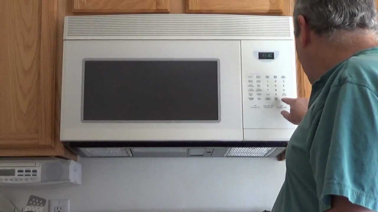 over the range microwave oven installation of