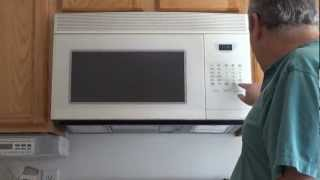Over the Range Microwave Oven, Installation of