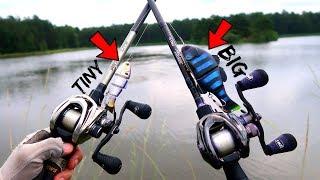 SWIMBAIT Face Off - BIG vs TINY - BIG Bass Fishing!!!