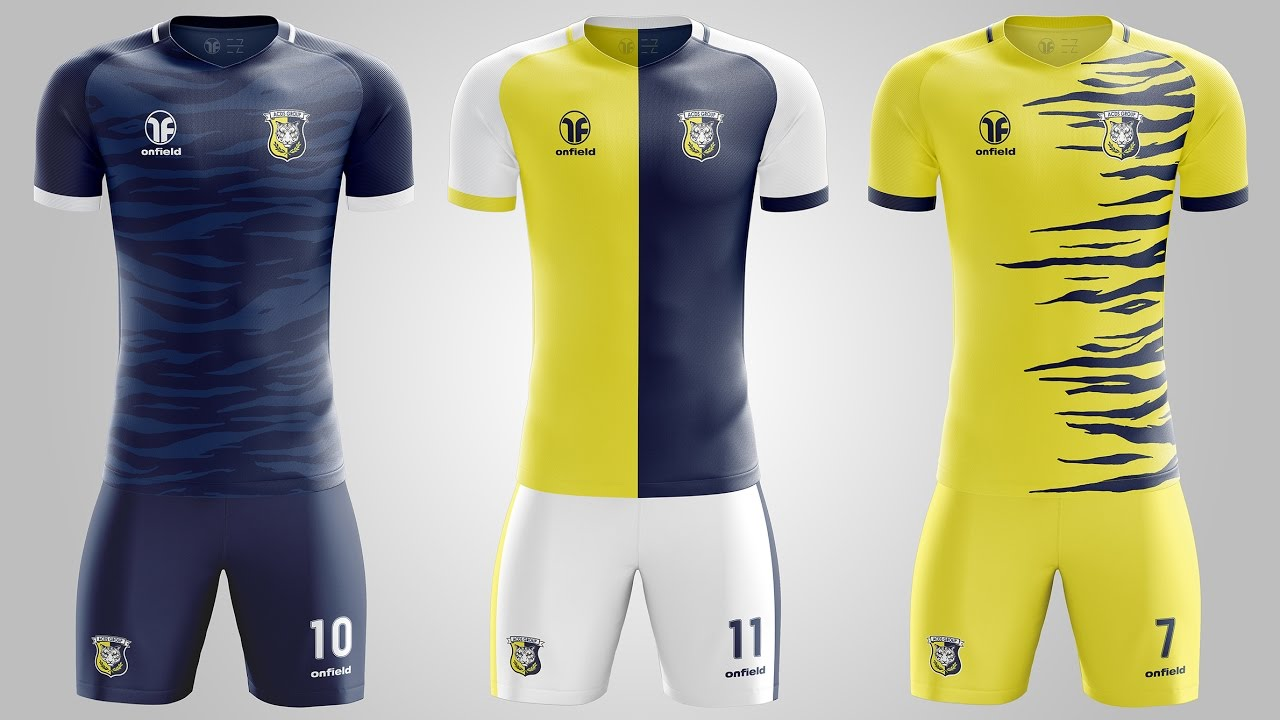 Design a t shirt kit - Acds Tigers Football Kit Design Ezdesign