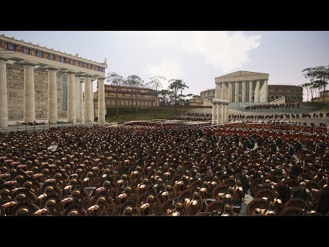 Спартанцы Штурмуют Рим! 4560 VS 3300 | Преторианцы или Элита Спарты?!!!