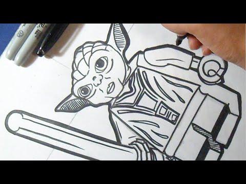 como desenhar o mestre yoda star wars lego youtube