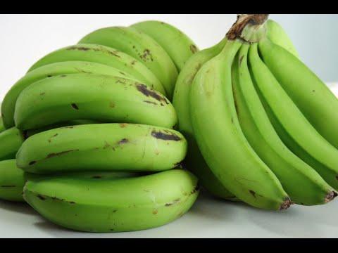 Cooking Green Banana In The Skin Youtube