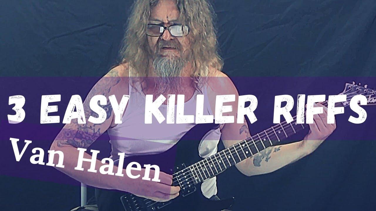 How to Play Three Easy Killer Van Halen Guitar Riffs