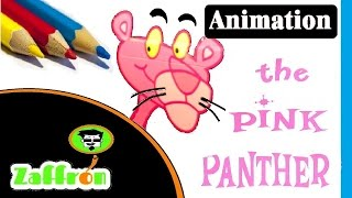 Fast Cartoon sketch : Pink Panther Speed Drawing Animation #2 | رسم  سريع | ピンクパンサーの描画 | zaffron