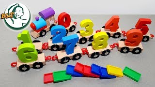 Learn to count to 10 with classic wooden train