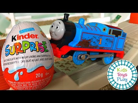 Thomas and Friends Railway Surprise Kinder Egg Trackmaster | Thomas the Train Video for Kids