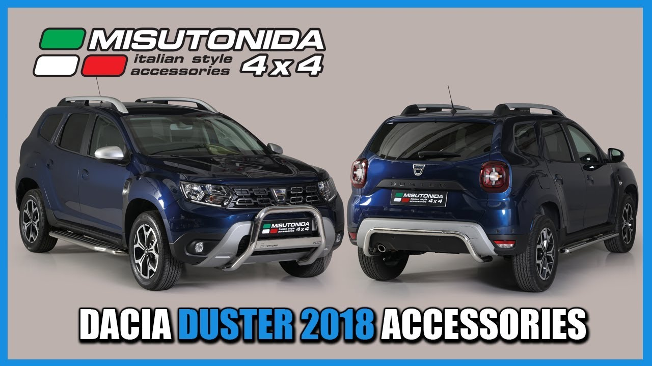 misutonida 4x4 italy dacia duster 2018 accessories youtube. Black Bedroom Furniture Sets. Home Design Ideas