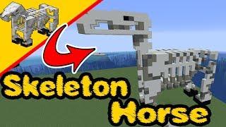 Minecraft skeleton Horse - Stątue Build - Skeleton Horse, PS4, XBox, PC, Pocket Edition, Switch