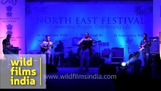 Assamese Bihu song by Mayukh Hazarika at North East Festival