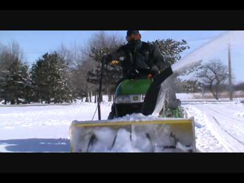 john deere snow blower hook up