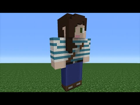 Minecraft Tutorial: How To Make A StacyPlays Statue (Youtuber)