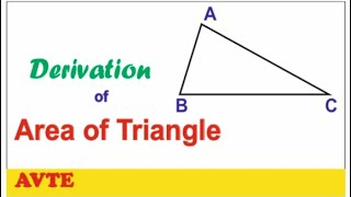 How to derive the formula of AREA of TRIANGLE || Coordinate Geometry || Important for Class X & XI