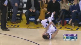 Omri Casspi Injury Suffers PAINFUL Ankle Injury Against Kings! Warriors vs Kings!