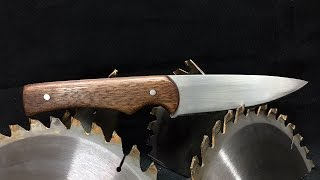 Saw Blade Knife with Limited Tools