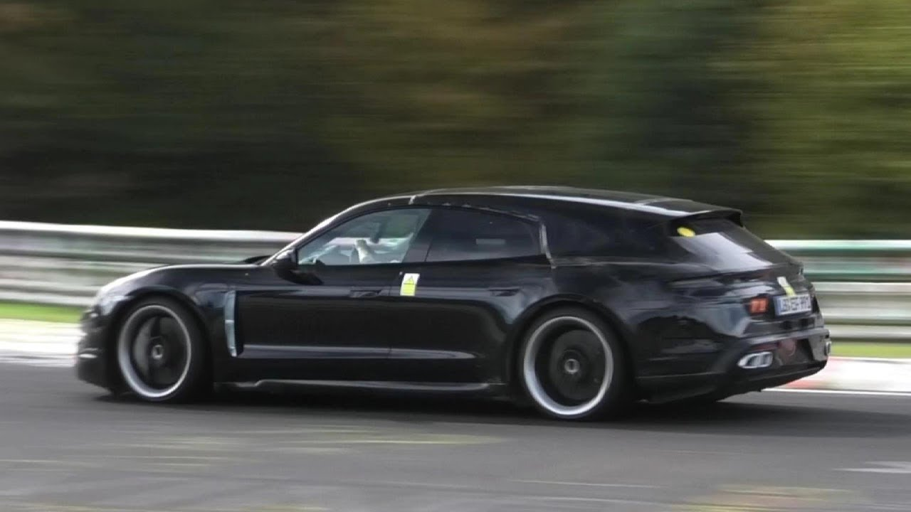 PORSCHE TAYCAN TURBO S CROSS TURISMO \u0026 SEDAN Spied at the Nurburgring!