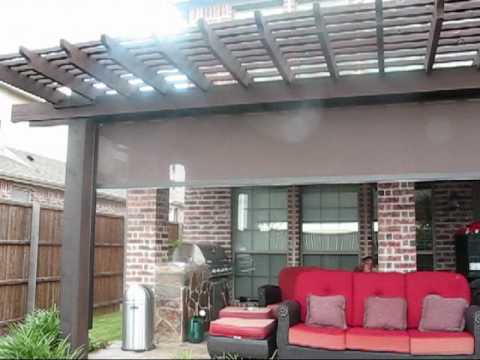 - Pergola Motorized Patio Sun Shade With Tracks Houston TX - YouTube
