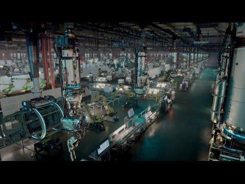 Factory Fifteen's futuristic car factory taken over robots