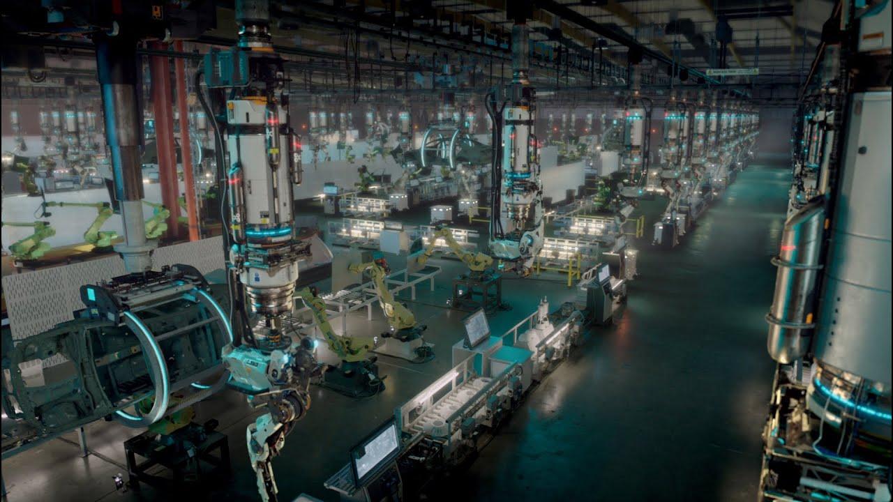 Factory Fifteen s futuristic car factory taken over robots