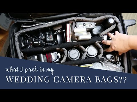 What is in my camera bag? How I pack my gear for a wedding photography gig