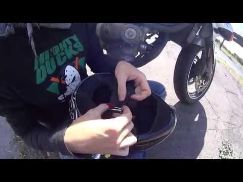 Как застегнуть мотоциклетный шлем
