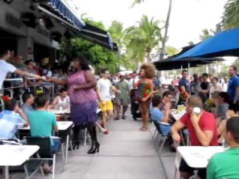 South Beach, Miami - Palace Bar on Ocean Drive... Checking out the divas
