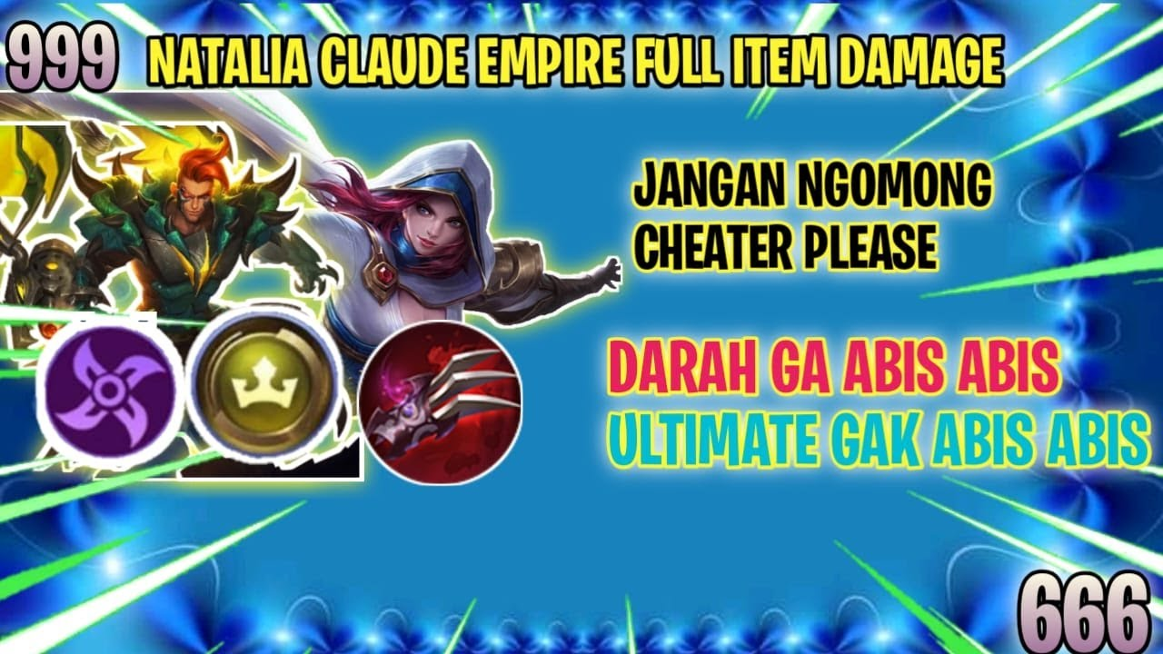 CLAUDE NATALIA ⭐⭐ 6 EMPIRE 6 ASSASSIN ULTIMATE GAK  ABIS-ABIS Nambah Darah  - MAGIC CHESS INDONESIA