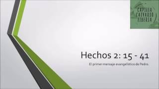 Hechos 2: 15 - 41 | El primer sermón evangelístico de Pedro