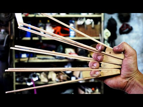 I make Grill tongs (sound of the instrument)