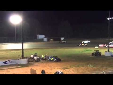 Factory Stock Feature at Ark-LA-Tex Speedway 4/11/15 Part 2