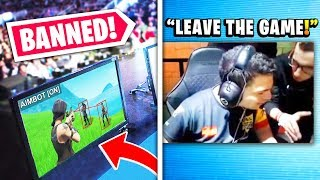 7 Fortnite PROS Caught CHEATING Live.. (BANNED)