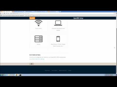 OpenDNS Setup and Configuration