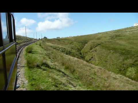 Snaefell mountain railway onboard