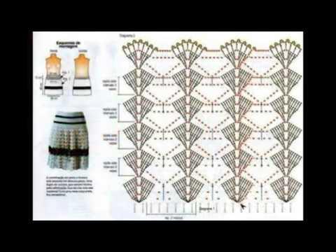 Faldas y patrones tejidos a crochet - YouTube