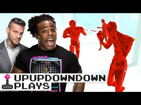 COREY GRAVES goes virtual reality with SUPERHOT VR on Oculus Rift! — UpUpDownDown Plays