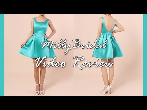 homecoming-dresses-|-elegant-a-line-open-back-satin-jade-short-prom-dress---millybridal-video-review