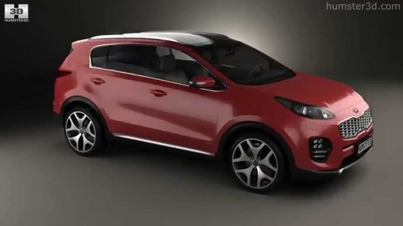 Kia Sportage 2016 by 3D model store Humster3D.com - YouTube