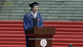Inspiring Grad speech of Carlo Dragonetti, the Italian student who went viral all over the world