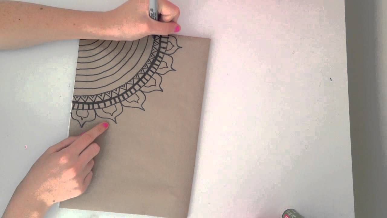 Katy's DIY: How To Cover A Notebook And A Simple Design