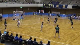10日 ハンドボール女子 あづま総合体育館 Aコート 佼成学園×高水 決勝1