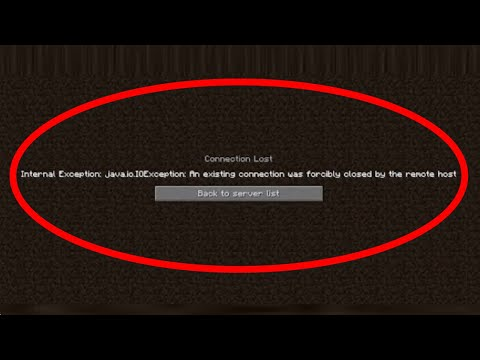 Fix An Existing Connections Was Forcibly Closed By The Remote Host Error On Minecraft JAVA Error