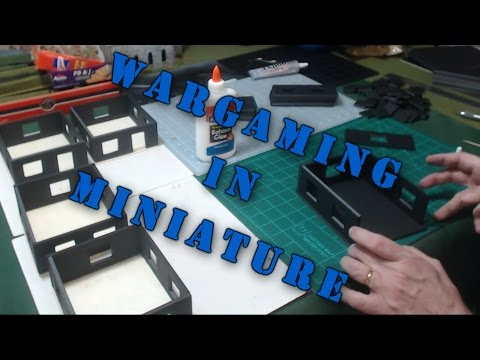 Wargaming in Miniature Building 28mm Bolt Action Row Houses pt 1