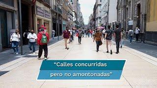 Se cumplió la primera semanas de que se anunciara en la CDMX el semáforo naranja de la pandemia de  Covid-19  y las calles lucen menos concurridas.