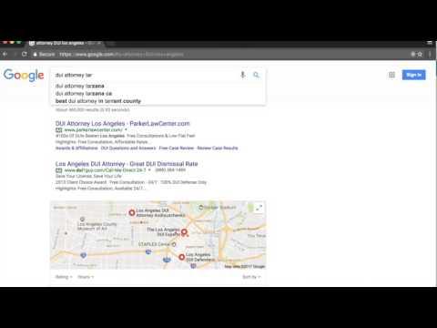 Organic Local Search results