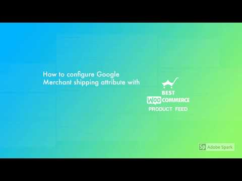 How to configure Google Merchant shipping attribute with Best WooCommerce Product Feed Plugin