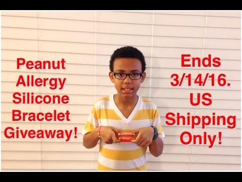 My 1st #Giveaway! Peanut Allergy Bracelet! Enter Now! Ends 3/14/16!