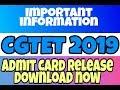#CGTET _2019!! Chhattisgarh TET admit card release download now!! ... CG TET important notice!..
